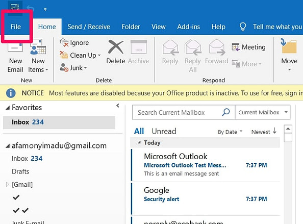 Set-up Gmail IMAP Setting In Outlook