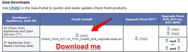 How to install checkpoint Gaia on VMware