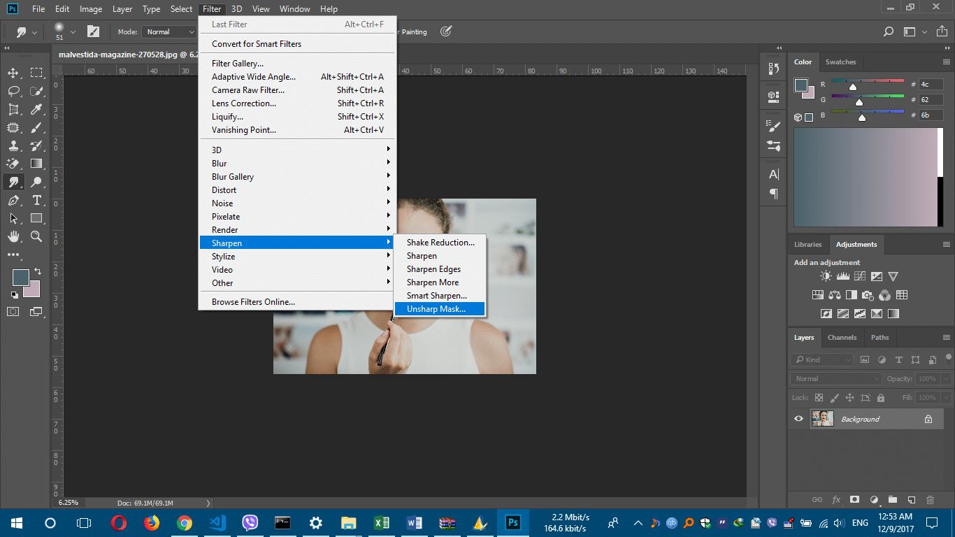 How to fix a blurry pictures