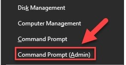 Run Command Prompt as an Administrator