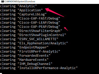 clear event viewer logs in windows 10