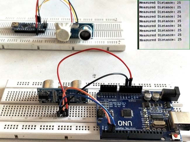 Build Distance Measuring System with Arduino UNO and Ultrasonic sensor HC-Sr04