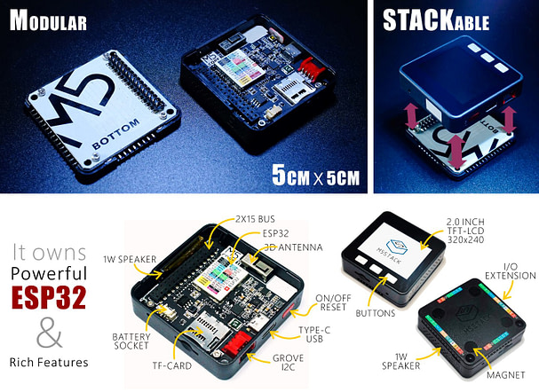 Getting started with small open source M5Stack Esp32 based Power Full Micro Controller