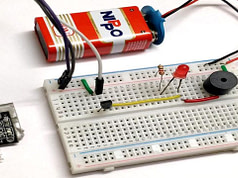 How to Drive Tilt Sensor without Arduino with the help of transistor and Buzzer