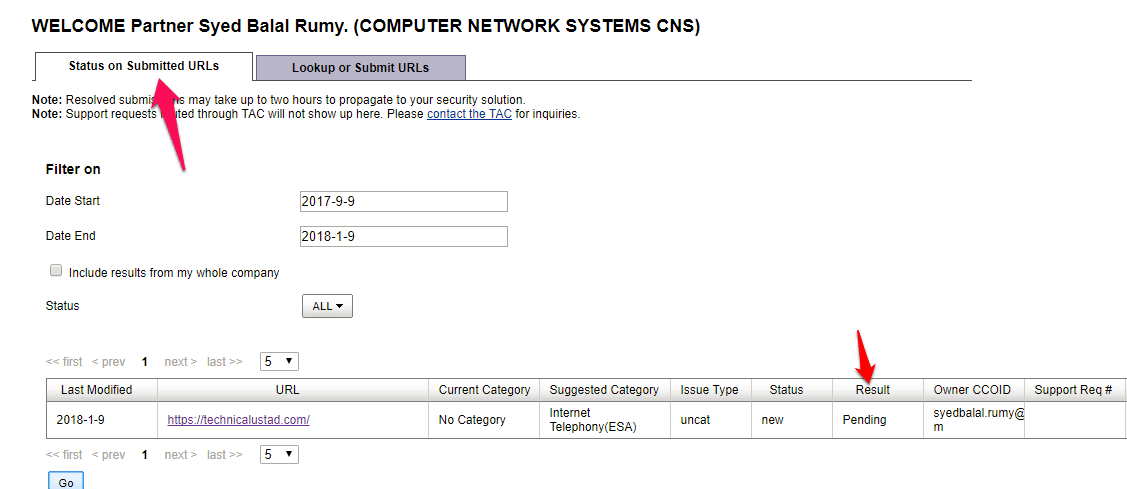 How To Check Website Category in Cisco WSA