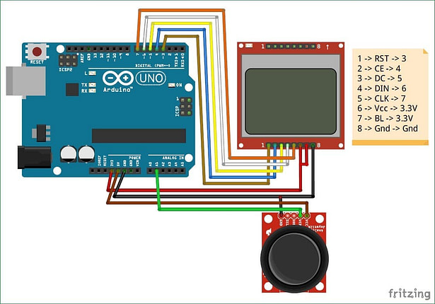 How to Build Race Game with Arduino and Nokia LCD module