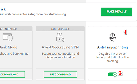 Online Privacy with a Avast Secure Browser