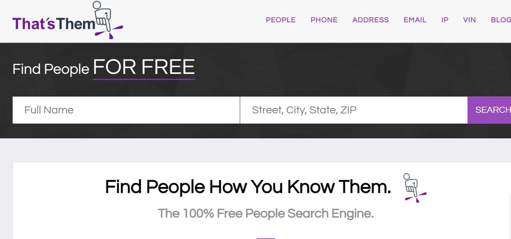 Totally free find a person