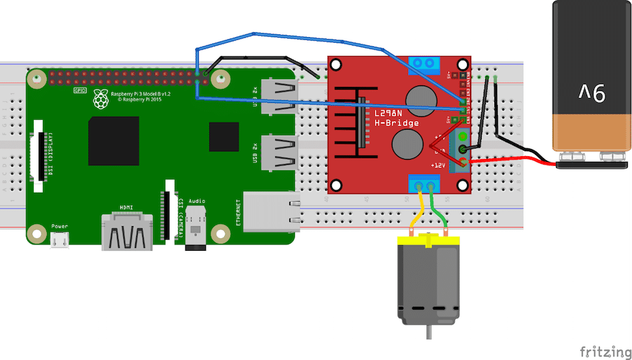 How to Control L298 Controller with Raspberry Pi