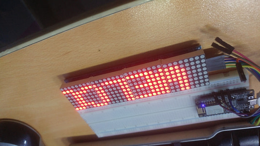 Build Display message system with WI-FI micro controller