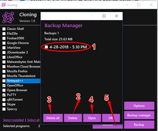 How to Back up software settings and drivers in seconds