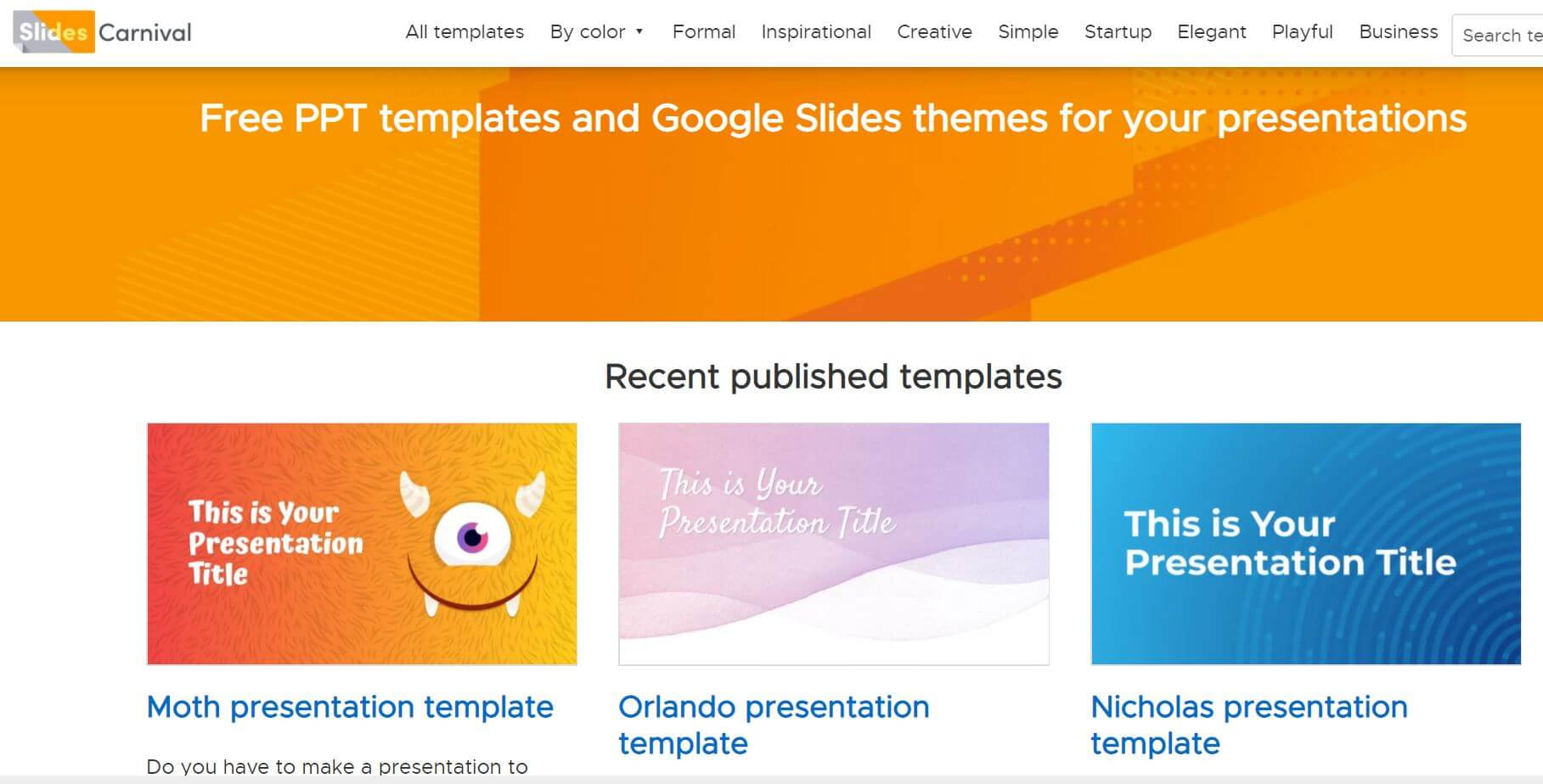 Great Websites For Free PowerPoint Templates