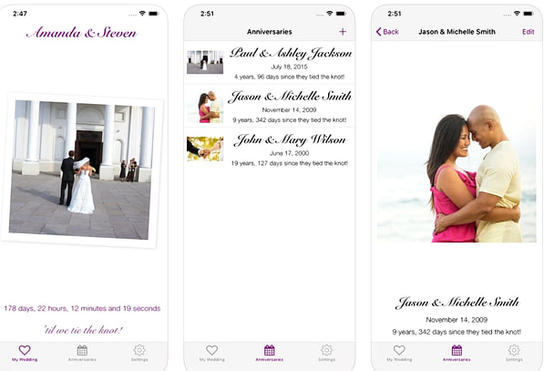 13 Of The Best Wedding Countdown Apps For Your Special Day