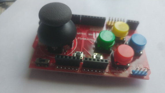 Getting Start with Joystick Shield Arduino and Nokia 51110 and build a game