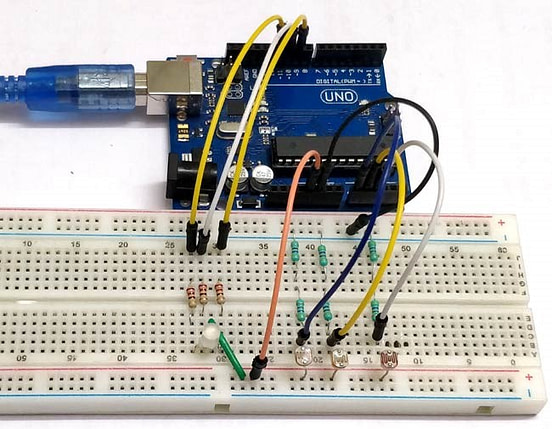 How to Build Color Combination LED system using LDR