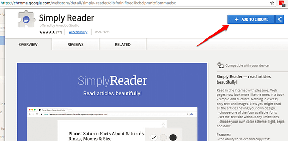 How to Add a One-click Reading Mode to chrome